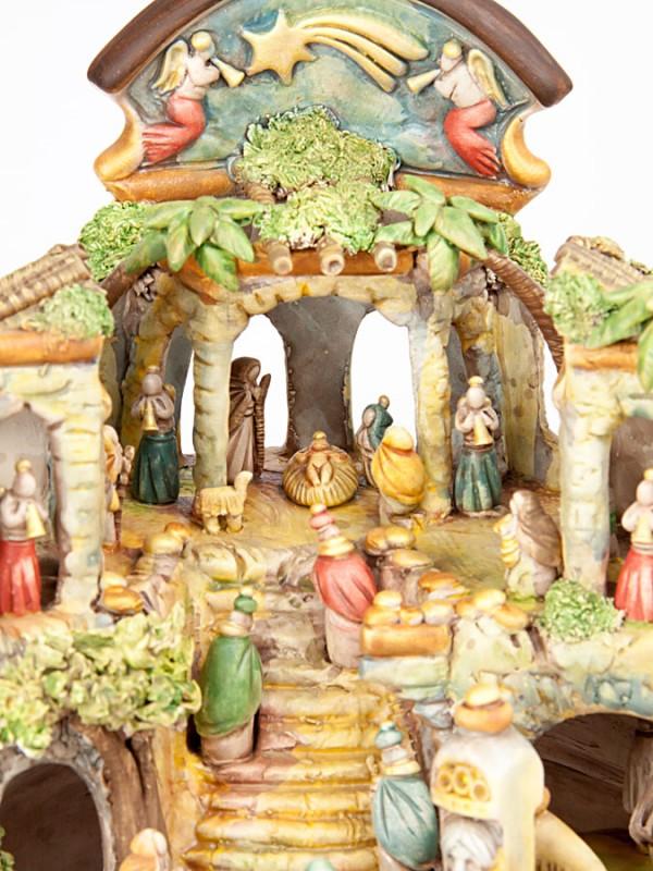 Presepe in miniatura in terracotta policroma (H 29) Presepi - CeramicArt Caltagirone