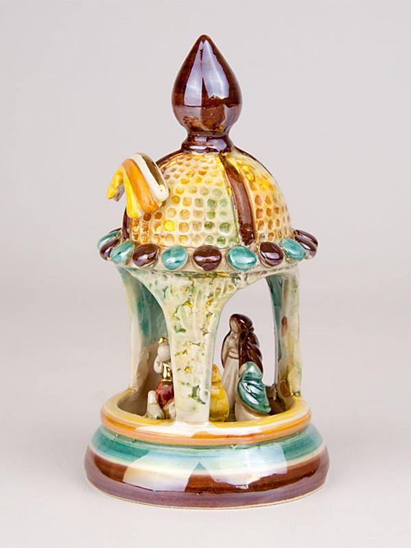 Presepe in gazebo in miniatura (H 15) Presepi - CeramicArt Caltagirone