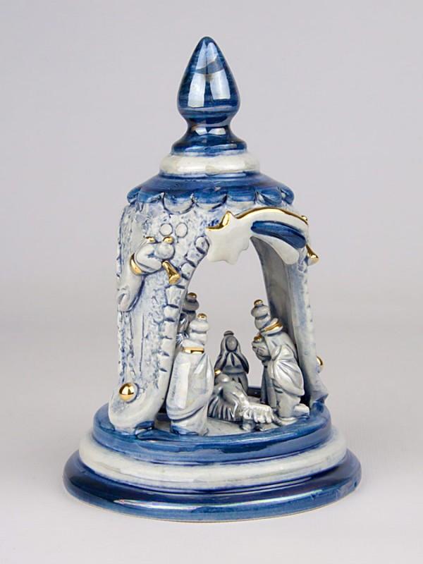 Presepe in campana in miniatura (H 16) Presepi - CeramicArt Caltagirone