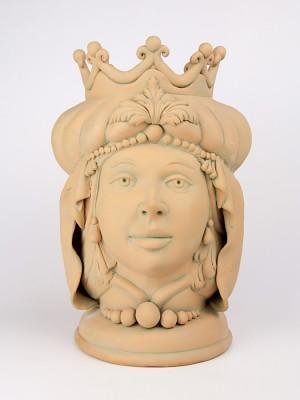 Testa porta pianta in terracotta figura femminile (H 40)