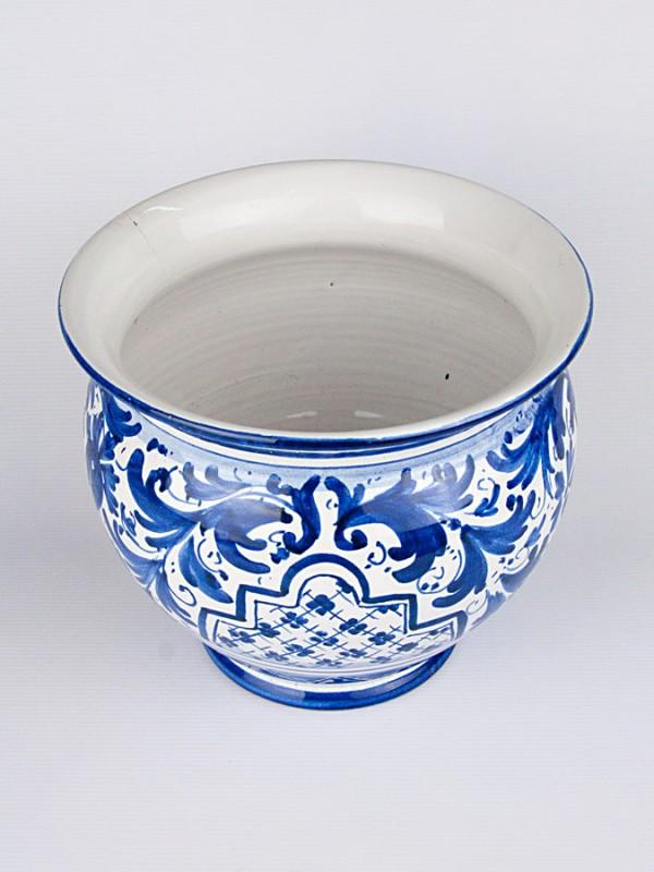 Vaso porta pianta con  700 blu (Ø 25) Porta piante - CeramicArt Caltagirone