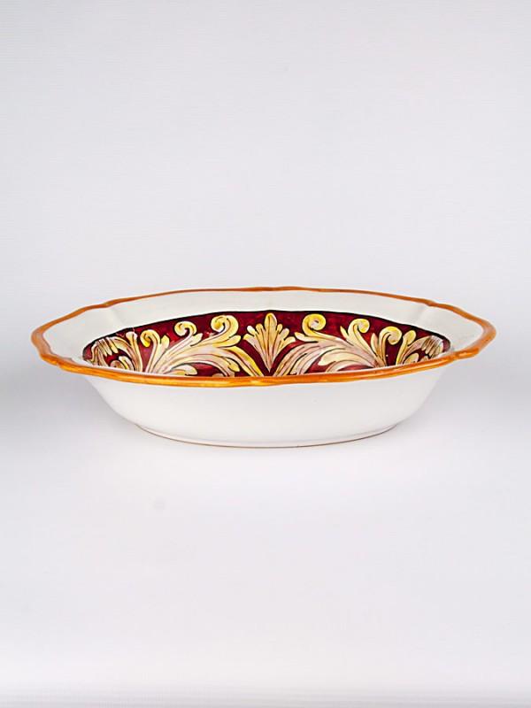 Ciotola ovale Barocca (Ø 37) Centrotavola - CeramicArt Caltagirone