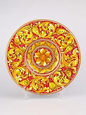 Piatto ornamentale con decoro Ornato Sabrina (Ø 35)