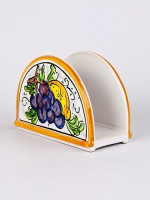 Portatovaglioli orizzontale con decoro Frutta (H 9)