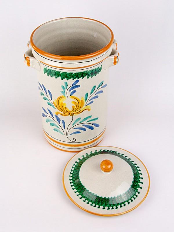 Barattolo burnia con 2 manici (H 35) Per la Cucina - CeramicArt Caltagirone