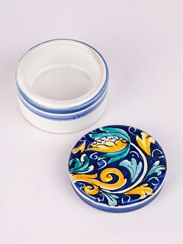 Scatola porta gioielli rotonda (Ø 8) Oggettistica - CeramicArt Caltagirone