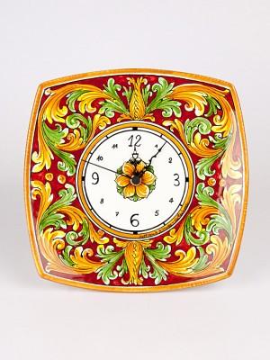 Orologio su piatto quadrato da parete (H 30)