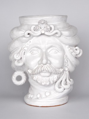 Man head pot (H 25)