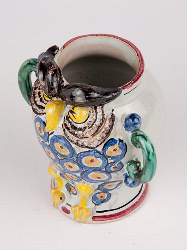 Vaso gufo con manici laterali (H 10) Vasi - CeramicArt Caltagirone