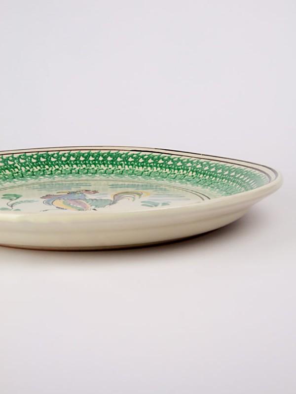 Fangotto rustico con gallo (Ø 40) Piatti Ornamentali - CeramicArt Caltagirone