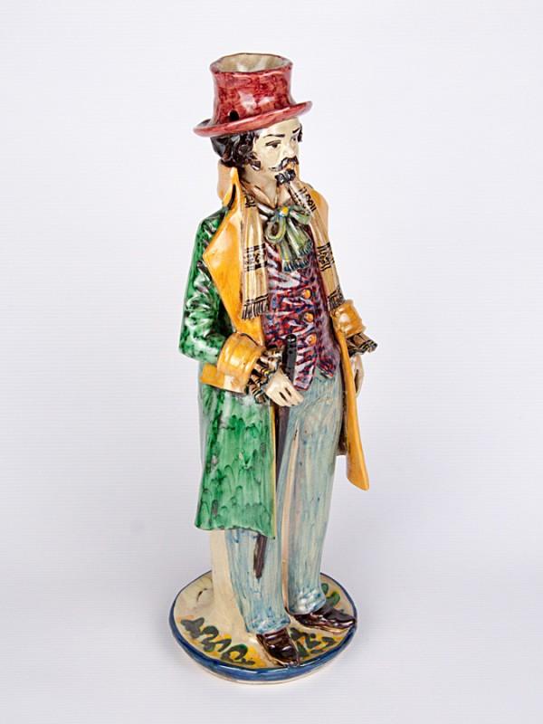 Lumiera uomo con abito elegante (H 40) Lumiere e Candelabri - CeramicArt Caltagirone