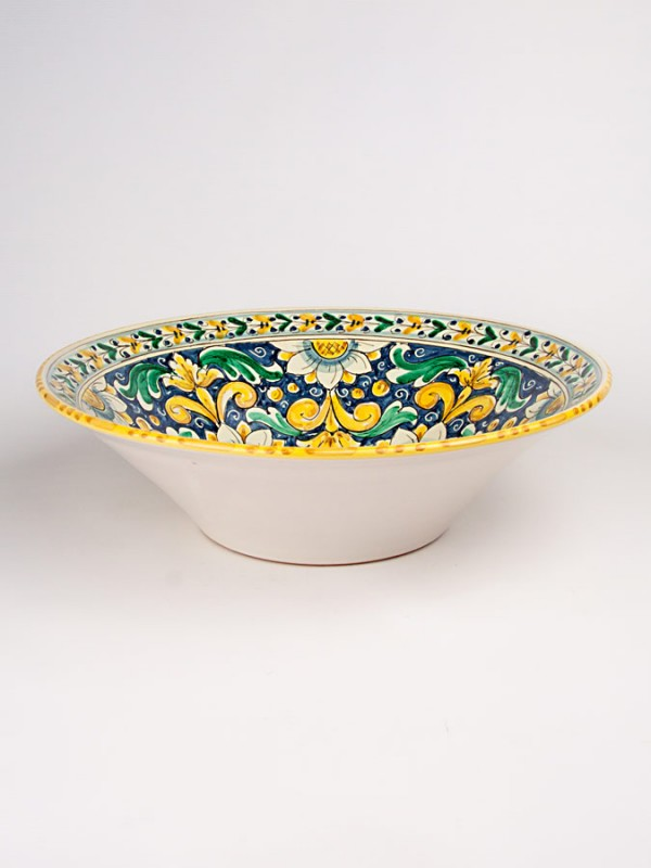 Ciotola con decoro floreale (Ø 35) Centrotavola - CeramicArt Caltagirone