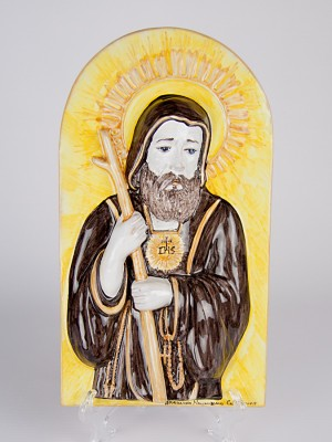Icona a bassorilievo San Francesco di Paola (H 37)