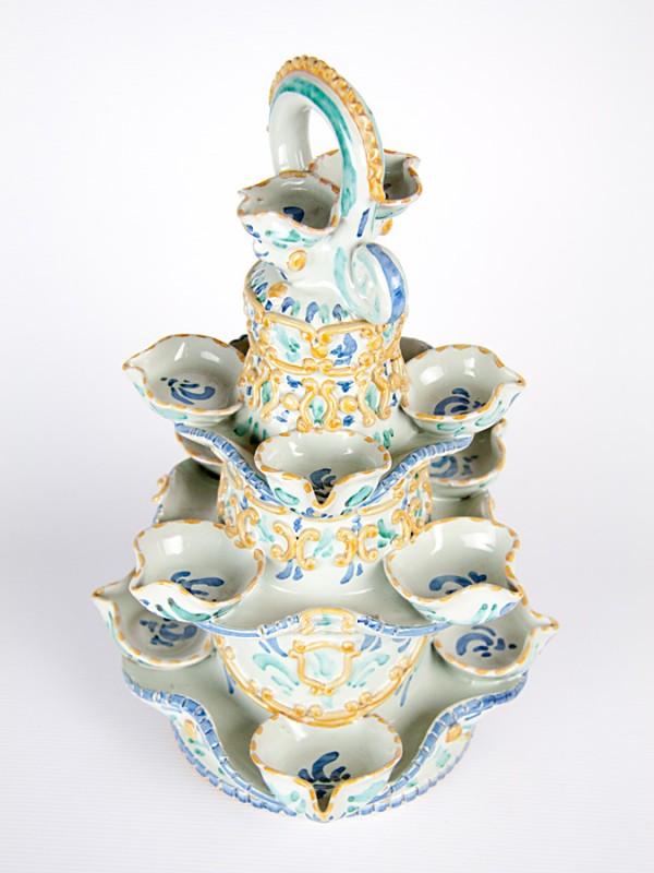 Lumiera barocca (H 38) Lumiere e Candelabri - CeramicArt Caltagirone