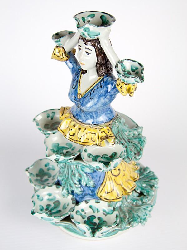 Lumiera donna (H 35) Lumiere e Candelabri - CeramicArt Caltagirone