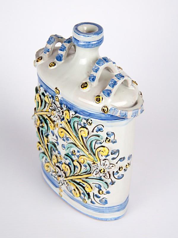 Fiasca barocca a rilievo (H 26) Per la Cucina - CeramicArt Caltagirone