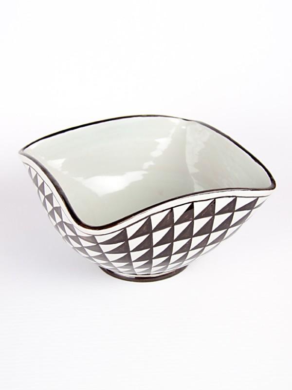 Ciotola centrotavola a punta di diamante (Ø 24) Centrotavola - CeramicArt Caltagirone