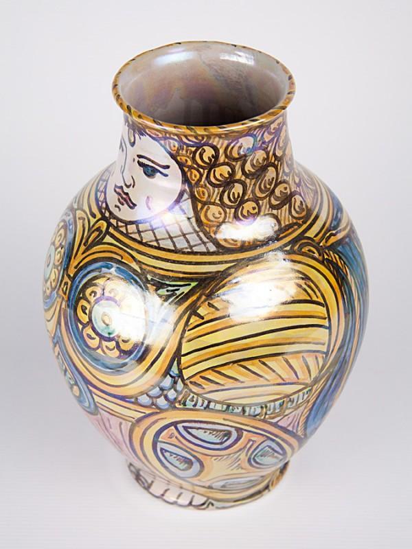 """Vaso a boccia """"Angelica"""" (H 25) Vasi - CeramicArt Caltagirone"""
