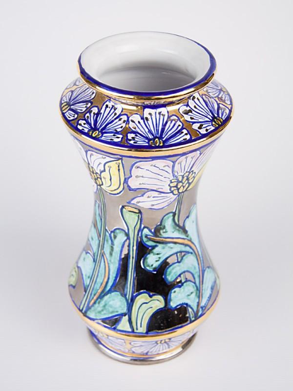 Vaso farmacia con decoro Liberty (H 29) Vasi - CeramicArt Caltagirone