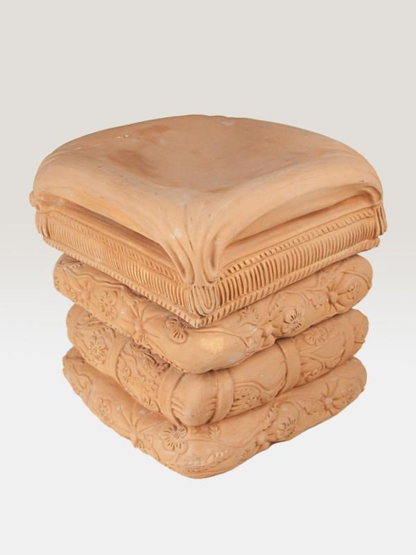 Sedile rinascimentale a 3 fasce (H 43) Elementi da Giardino - CeramicArt Caltagirone