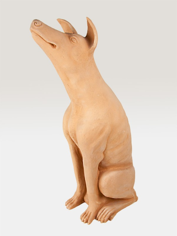 Cane in terracotta cirneco dell'Etna (H 71) Elementi da Giardino - CeramicArt Caltagirone
