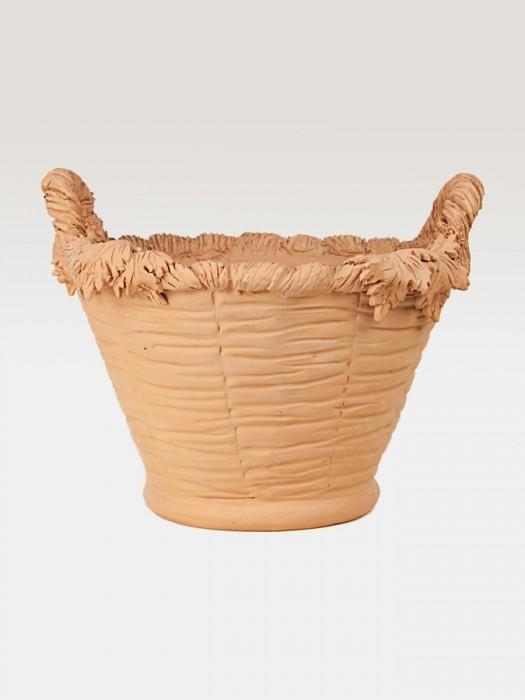 Cesto porta pianta in terracotta ispirato all'autunno (Ø 37)