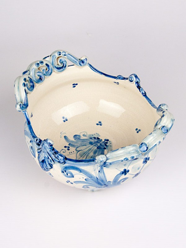Ciotola centrotavola ovale barocca (Ø 20) Centrotavola - CeramicArt Caltagirone