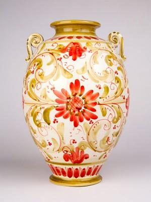 Vaso ovale con manici (H 30)