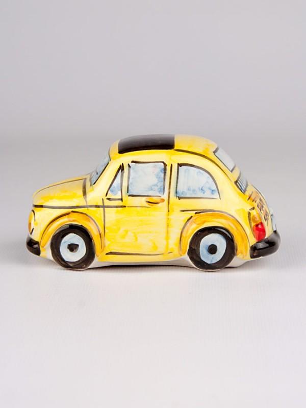 Fiat 500 gialla (H 6) Oggettistica - CeramicArt Caltagirone