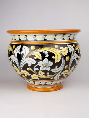 Vaso porta pianta con decoro ornato (Ø 40)