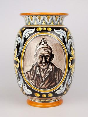 Vaso con busto di uomo anziano (Tir. Limitata) (H 31)