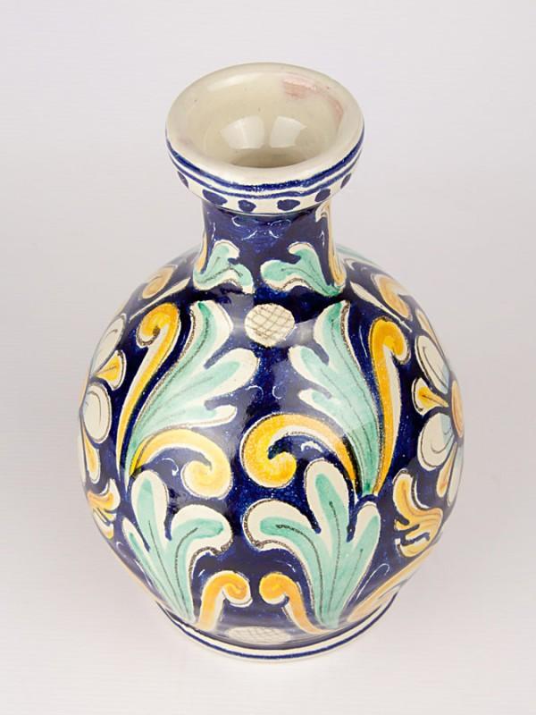 Vaso a bottiglia con decoro '700 (H 25) Oggettistica - CeramicArt Caltagirone
