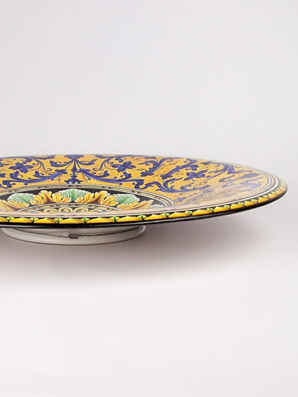 Piatto a onda con decoro serie d'arte (Tir. Limitata) (Ø 60) Piatti Ornamentali - CeramicArt Caltagirone