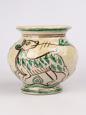 Vaso medievale con lepre (Tir. Limitata) (H 15)