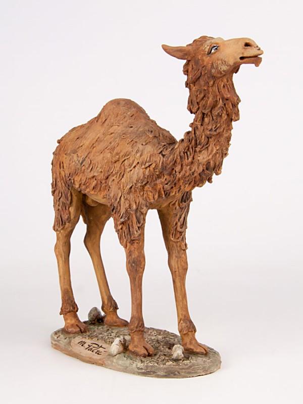 Scultura dromedario in piedi modellato a mano (H 23) Sculture - CeramicArt Caltagirone
