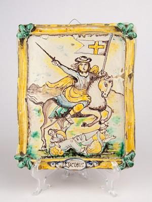 Pannello anticato con San Giacomo (Tir. Limitata)  (H 27.5)