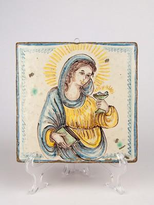 Mattone anticato con Santa Lucia (Tir. Limitata) (H 20)