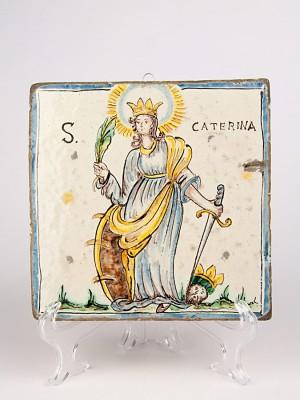 Mattone anticato con Santa Caterina (Tir. Limitata) (H 20)