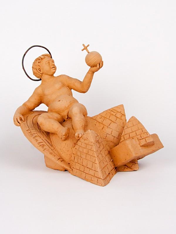 Gesù, Re del mondo (Pezzo Unico) (H 21) Sculture - CeramicArt Caltagirone