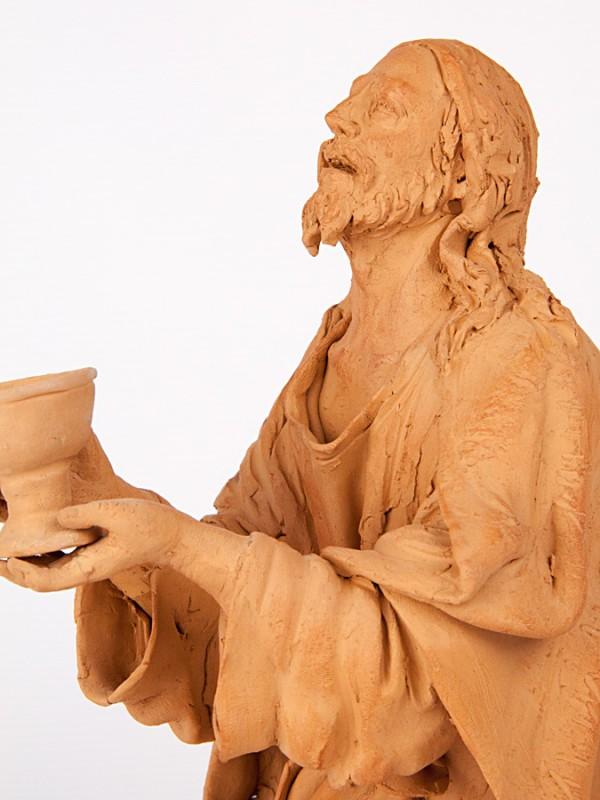 Cristo nell orto di Getsemani (Tir. Limitata) (H 25) Sculture - CeramicArt Caltagirone