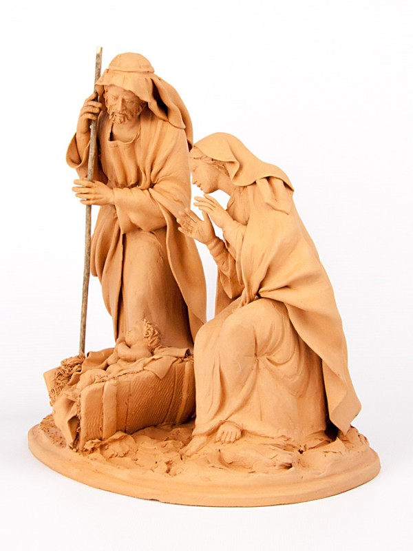 Natività in terracotta (H 28) Presepi - CeramicArt Caltagirone