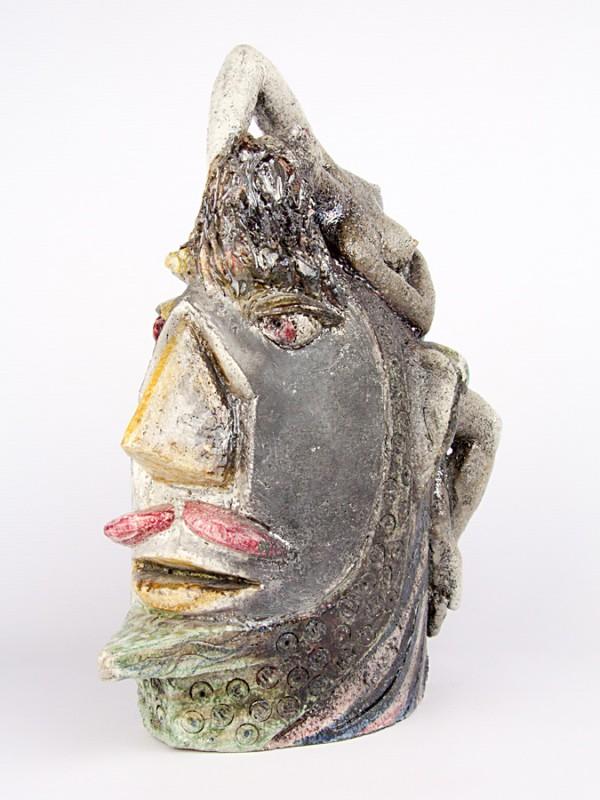 L'idea fissa (Tir. Limitata)  (H 34) Sculture - CeramicArt Caltagirone