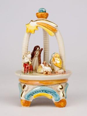 Presepe in gazebo in miniatura (H 13)