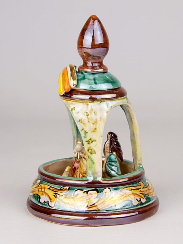 Presepe in campanellina in miniatura (H 15) Presepi - CeramicArt Caltagirone