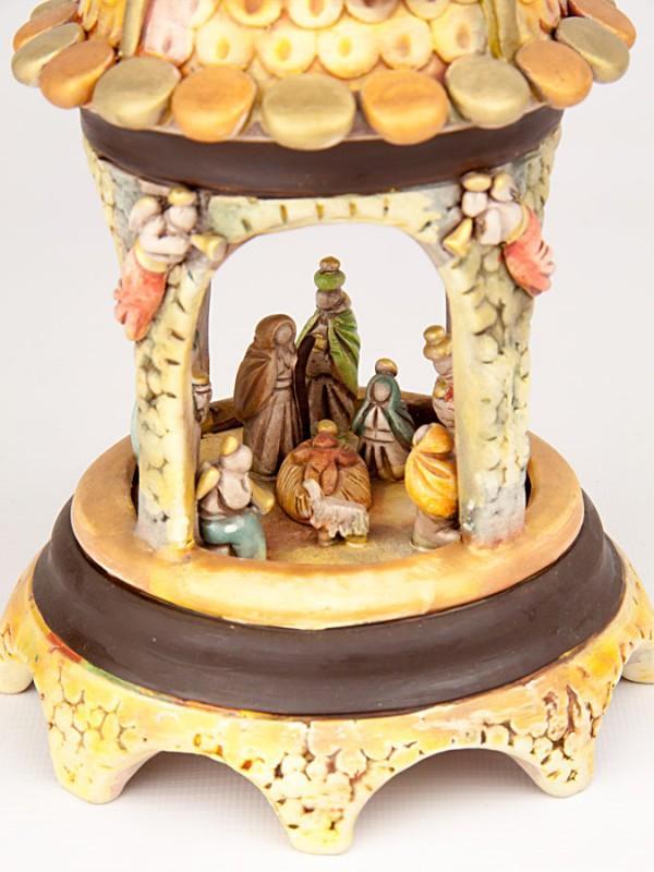 Presepe in gazebo in miniatura (H 22) Presepi - CeramicArt Caltagirone