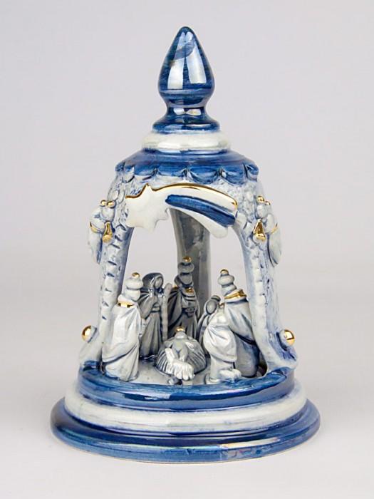 Presepe in campana in miniatura (H 16)