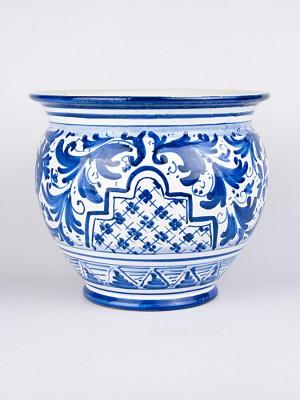 Vaso porta pianta con '700 blu (Ø 25)