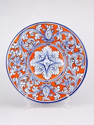 Piatto ornamentale con decoro Ornato arancio (Ø 35)