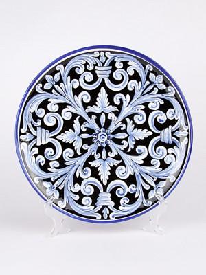 Piatto ornamentale con decoro Ornato cuore nero (Ø 30)