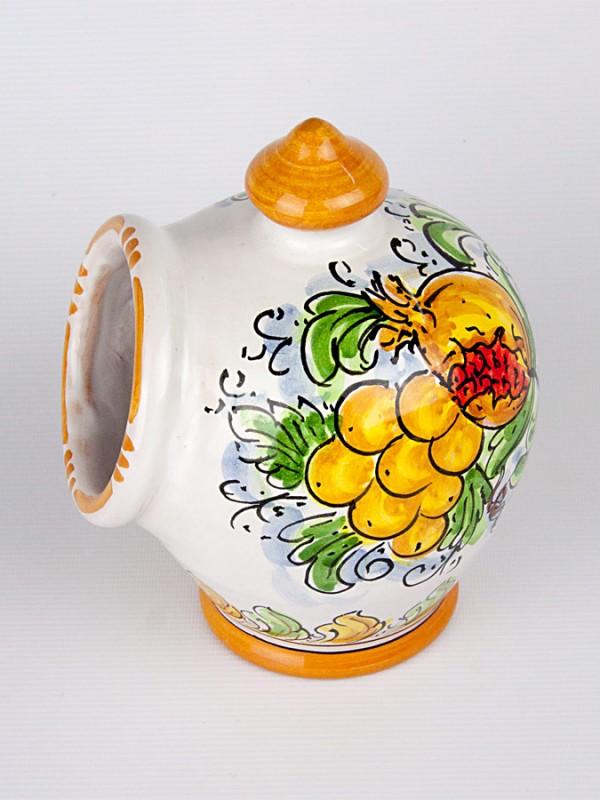 Portasale con decoro Frutta (H 22) Per la Cucina - CeramicArt Caltagirone